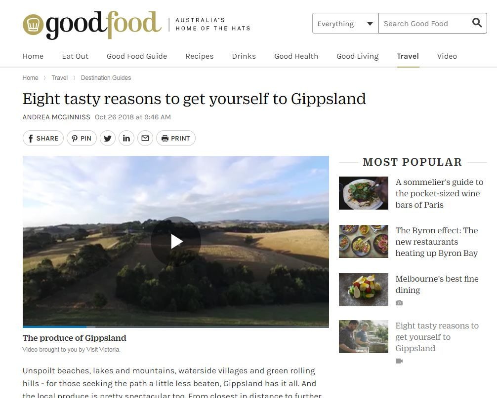 Good Food review for Gippsland